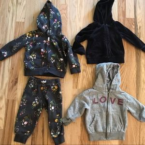 Other - 18 Month Floral Sweat Suit and Sweatshirts Lot